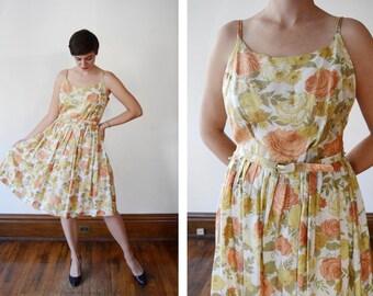 Rose 50s/60s Valley Frocks Floral Sundress - M/L