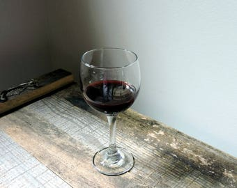 "Fake 7"" Glass of Merlot Wine Food Prop Staging Home Decor"
