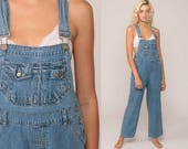 Bib Overalls 90s Denim GRUNGE Pants Lee Baggy Dungarees No Boundaries Long Jean Pants Boyfriend Suspender Hipster Vintage Carpenter Small
