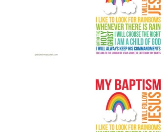 My Baptism: Subway Cards (qty 1)