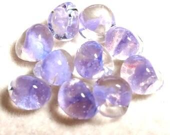 Unicorne Teardrop, Boro Glass, Color: Slightly Violet, 1 bead