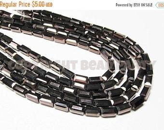 "20% OFF 7.5"" Glass STRAND - Glass Crystal Beads - 4x8mm Rectangle Tubes - Metallic Dark Bronze Brown (7.5 inch strand - 23 beads) - str1034"