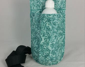 Massage Therapy single 8oz lotion bottle hip holster, NO BACK POCKET, Hidden faces, black belt