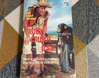 Vintage 1966 Disney Lt Robin Crusoe USN Bill Ford