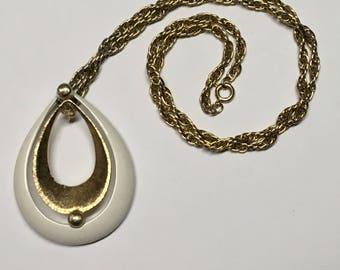 Vintage Coro Teardrop Necklace/Vintage Statement Necklace/Coro Jewelry/Coro/Jewelry/Coro Necklace/Vintage/Teardrop Necklace/Vintage Necklace