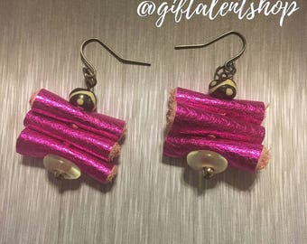"2"" Coiled Leather Earrings 