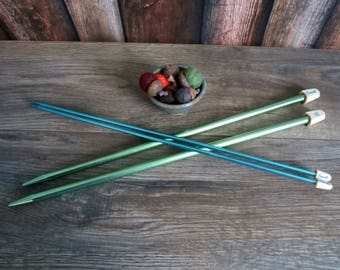 Two sets of vintage knitting needles from Grants