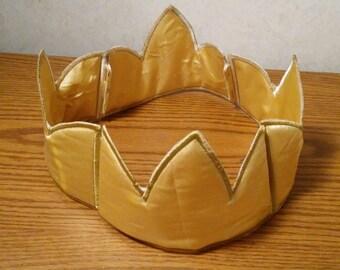 Gold Crown Boy Adult prince king photo prop prince slip on birthday hat