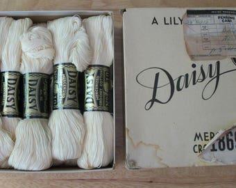 Vintage Daisy Crochet Cotton--Complete Case