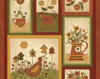 NEW Chicks on the Run Quilt Fabric 100% Cotton Coordinating Fabric Panel