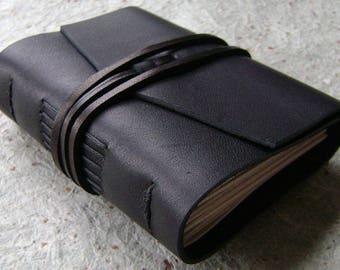"Pocket journal, pocket diary, 3""x 4"" journal, handmade leather journal, pocket sketchbook, travel diary, (2595)"
