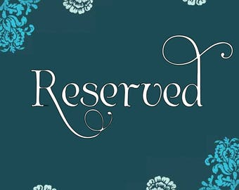 RESERVED for Santosgloria63 - Custom Stationery Set
