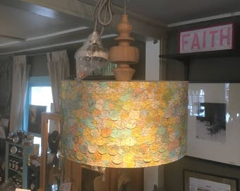 Vintage Maps Hanging Lamp