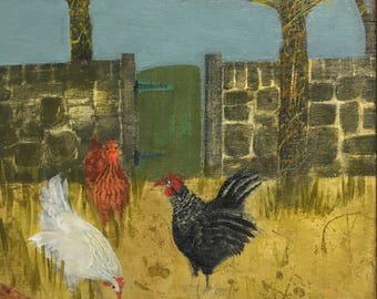Chickens in the orchard