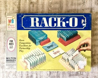 Vintage Rack-O Card Game, Milton Bradley 1966