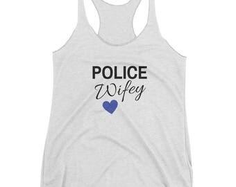 Police Wifey - Women's Racerback Tank