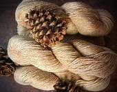Golden heathered worsted weight wool yarn for knitting or crocheting - Peace Fleece, Palomino