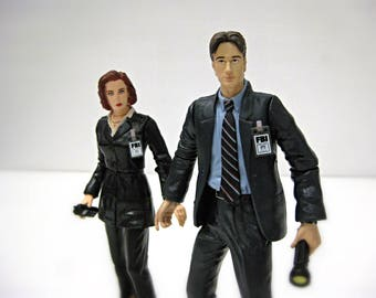 X-Files Mulder and Scully Action Figures, X Files Christmas Gift for Couples, X Files Dolls, Kids Toys, XFiles Figures, FBI, Mulder It's Me