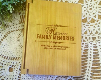 Personalized Photo Album, Personalized Wood Photo Album,Personalized Anniversary Gift, Personalized Wedding Gift, Engraved Photo Album,