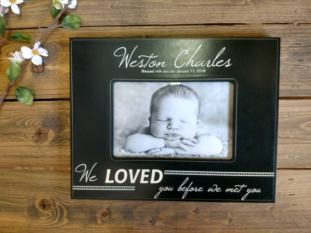 Personalized baby picture frame personalized baby frame newborn 2650 negle Choice Image