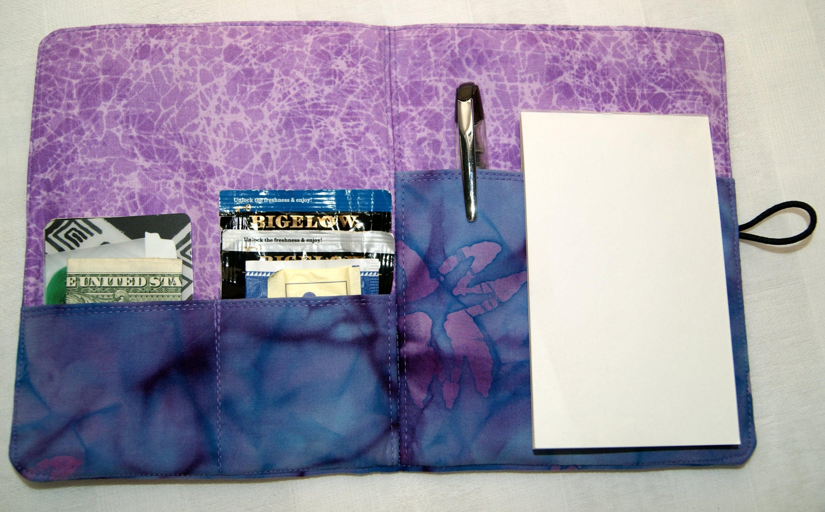Purse Size Personal Organizer - Purple - Business Cards Holder ...