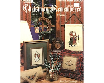 1987 Christmas Cross Stitch Pamphlet, Leisure Arts Christmas Remembered, Vintage Cross Stitch, Craft Books by NewYorkTreasures on Etsy