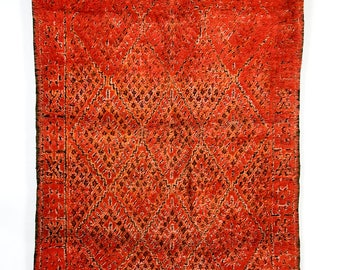 Fire Dreaming - Classic red Moroccan Berber rug