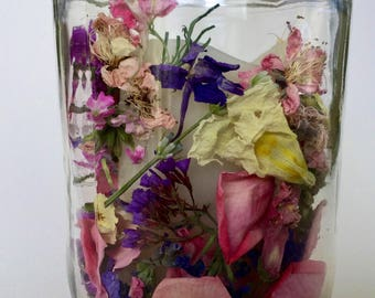 Wedding Flower Confetti, Real Dried Flowers, Wedding Favor, Candle Decor, Centerpieces, Flower Petals, Biodegradable, Flower Girl, Real