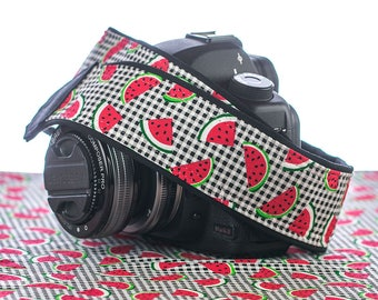 Watermelon dSLR Camera Strap, SLR, Plaid, Red, 098