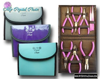 Jewelry Plier Set 8 pieces - Purple, Silver or Turquoise