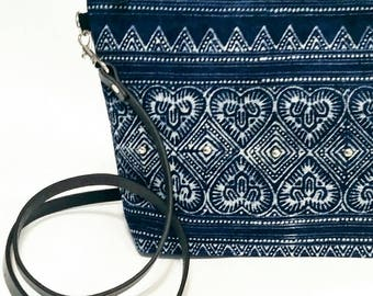 Hmong Woven fabric crossbody bag