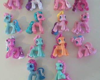 My Little Pony Ponyville Lot of 13 Mini Figures with Minty Hasbro MLP B