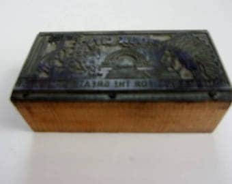 Sioux City Home Market for the Great Northwest Printer's Cut, Printing Press, Wooden Block, Advertising and Collectible