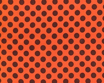 1/2 yard - Ta dot in Pumpkin, Michael Miller Fabrics