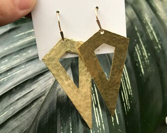 Hammered Shield Earrings