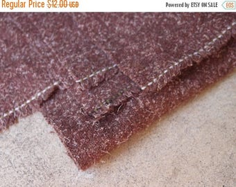 SALE SALE SALE Vintage Fabric Wool Brick Brown Sewing Supplies