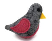 Birds of a Sweater Catnip Cat Toy - Gray and Pink