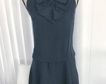 Memorial Day Sale 25% OFF Adorable Vintage 1960's Mod Drop Waisted Scooter Dress -- Size S-M