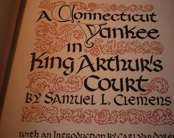 A Connecticut Yankee in King Arthur's Court - Mark Twain 1948 First Edition Heritage Press Honore Guilbeau w slipcase sandglass for readers