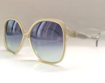 70s Vintage German Atrio Small Gray Square Frame Sunglasses