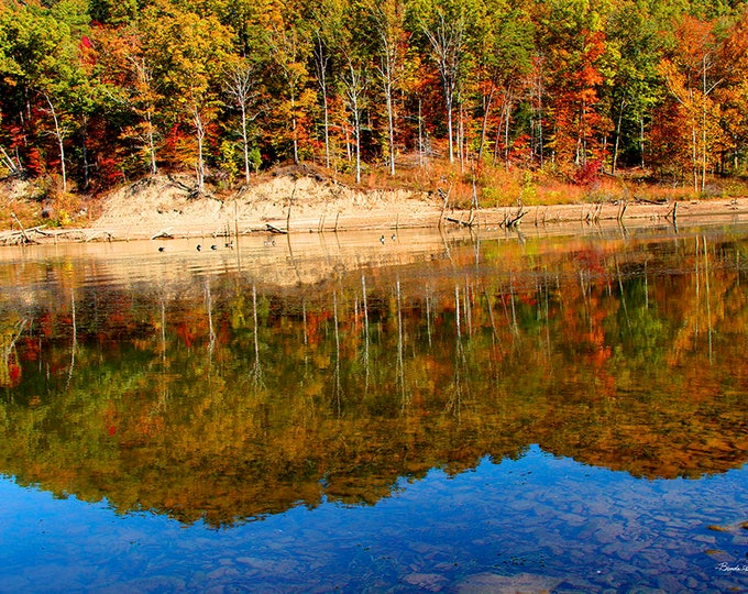 Cave Run Lake Reflections, Kentucky Fine Art Giclee Print on Paper or Canvas, Custom or Framed Orders Welcome