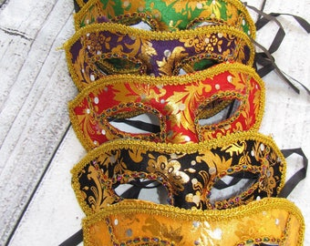 12 piece lot of Mask mardi gras  masks masquerade party favors centerpieces wedding  sweet 16 quinceanera Fast Free Shipping