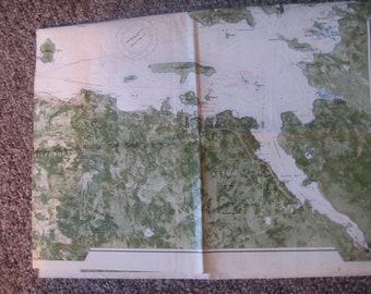 LAKE WINNIPESAUKEE, New Hampshire/  **Large** 34 X 24  Navigational Chart 1988