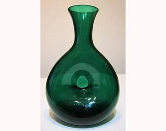 vintage BLENKO emerald green  No. 441 vase