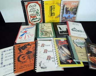 Cookbooks Spiral Bound Instant Collection - Mid to Late Century Vintage Recipe Books - Church Women, Junior League Cook Books