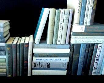 Grey Custom Book Stack - Books By the Foot - Vintage Books for Decor - Choose How Many Feet - Home Staging