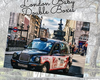 London Vacation Travel Photo Double Boxes Planner Stickers Vertical Student - Stick to Your Story