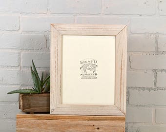 8x10 Rustic White Washed Reclaimed Cedar Picture Frame IN STOCK - Same Day Shipping - Upcycled 8 x 10 Reclaimed Wood Photo Frame - 8x10""