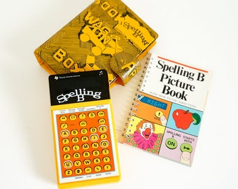 Vintage 1970s Learning Toy / Texas Instruments Spelling B 1978 VGC Working / Includes Four Other Spelling Games