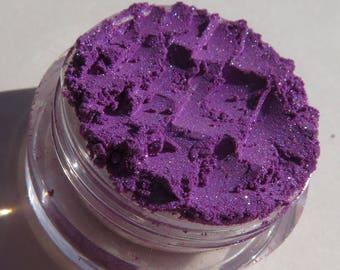 Dark Lavender Purple Vegan Mineral Eyeshadow   Cruelty-Free   Pink & Red Shimmers   Loose Pigments   Mineral Makeup Eye Shadow - Wild Side